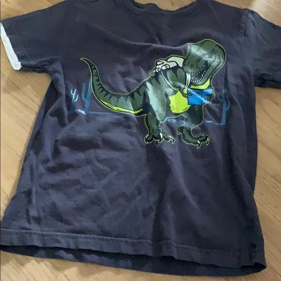 147c3891f1 Gymboree boy 8 Dino dinosaur t-Rex shirt top navy.  M_5bfea718619745563bf9f0c3